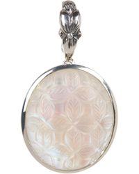 Stephen Dweck - Sterling Silver Oval-cut Carved Leaf Pendant - Lyst