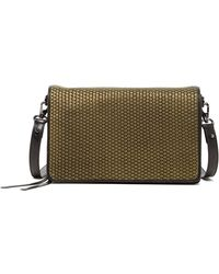 Christopher Kon | Mini Weave Leather Crossbody Bag | Lyst