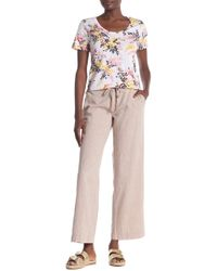 Joe Fresh - Linen Blend Drawstring Pants - Lyst