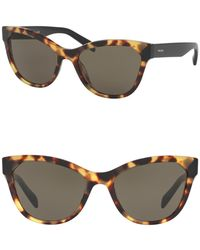 Prada - Phantos 56mm Cat Eye Sugnlasses - Lyst