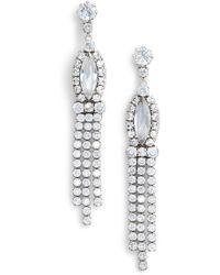 Marc By Marc Jacobs - Crystal & Cz Dangle Earrings - Lyst