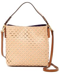 Cate Riley - Tia Leather Perforated Bucket Bag - Lyst