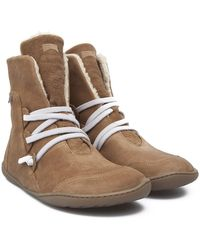 Camper - Peu Faux Shearling Lined Cami Bootie - Lyst