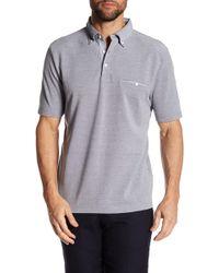 Thomas Dean - Point Collar Short Sleeve Regular Fit Polo - Lyst