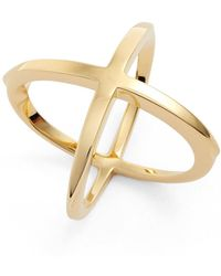 Elizabeth and James - Windrose Crisscross Ring - Size 6 - Lyst