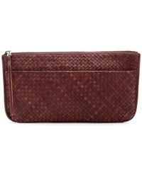 Christopher Kon - Large Leather Woven Clutch - Lyst