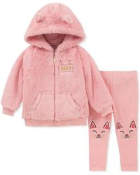Juicy Couture - Faux Fur Hooded Jacket & Kitty Leggings Set (baby Girls 12-24m) - Lyst