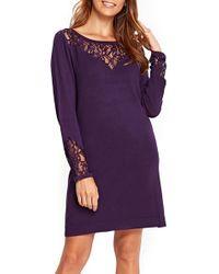 Wallis - Lace Panel Shift Dress - Lyst