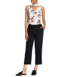Vince Camuto - Straight Leg Crop Trousers - Lyst