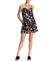 Mimi Chica - Lace-up Swing Dress - Lyst