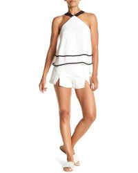 Do+Be Collection - Front Split Topstitched Shorts - Lyst