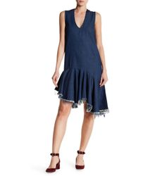 Do+Be Collection - Fray Hem Denim Dress - Lyst