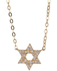 Nadri - 18k Gold Plated Brass Cz Star Pendant Necklace - Lyst