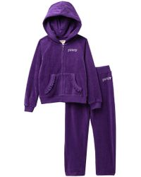 Juicy Couture - Purple Heart Velour Track Suit (baby Girls) - Lyst