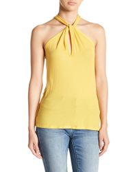 Go Couture - Keyhole Halter Tank - Lyst