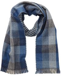 Tommy Bahama - Checkered Houndstooth Wool Blend Wrap Scarf - Lyst