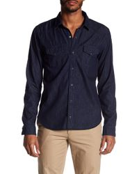 Vince - Western Denim Long Sleeve Shirt - Lyst