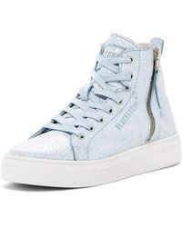 Blackstone - Crackled Leather High-top Trainer - Lyst