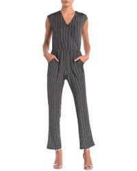 5860ddddc64 Spense - Striped Lurex Jumpsuit - Lyst