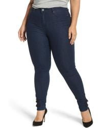 Lost Ink - Super High-waist Skinny Ankle Jeans (plus Size) - Lyst