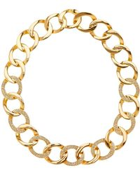 House of Harlow 1960 - Ra Engraved Crystal Detail Chain Necklace - Lyst