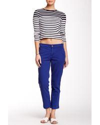 Calvin Klein Jeans - Abbreviated Crop Straight Leg Pant - Lyst