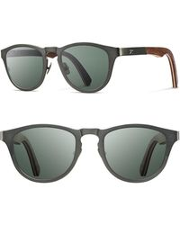 Shwood - 'francis' 49mm Polarized Titanium & Wood Sunglasses - Lyst