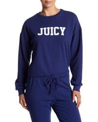 Juicy Couture - Drop Shoulder Logo Pullover - Lyst