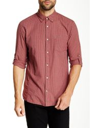 John Varvatos - Long Sleeve Roll Up Slim Fit Shirt - Lyst