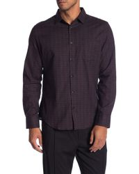 Good Man Brand - Mini Check Regular Fit Shirt - Lyst