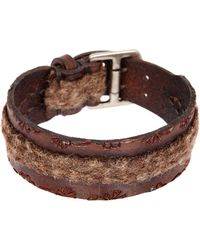 John Varvatos - 20-25mm Flannel Fabric Cuff Bracelet - Lyst