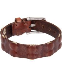 John Varvatos - Inlay Rivet Panel Skinny Cuff Bracelet - Lyst