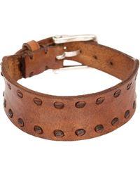 John Varvatos | Leather Interlay Perf Cuff Bracelet | Lyst