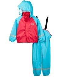 Helly Hansen - Voss Rainset Jacket & Overall Set (toddler Girls) - Lyst