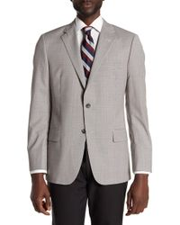 Hickey Freeman - Gray Glenplaid Two Button Notch Lapel Wool Sport Coat - Lyst