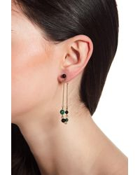 House of Harlow 1960 - Ulli Beaded Malachite Front & Back Dangle Earrings - Lyst