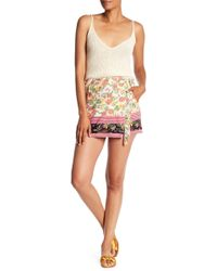 Angie - Printed Wrap Shorts - Lyst