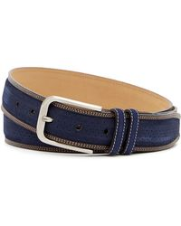 Mezlan - Suede Parma Perforated Belt - Lyst