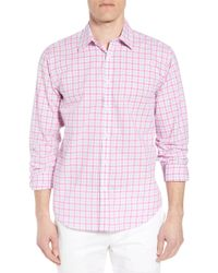 Jeremy Argyle Nyc - Slim Fit Grid Sport Shirt - Lyst