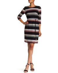 Sandra Darren - Chevron Knit Dress - Lyst