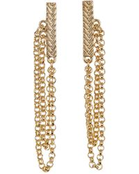 Cole Haan - Textured Bar & Chain Drop Earrings - Lyst