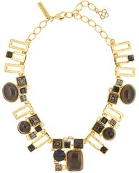 Oscar de la Renta - Geometric Resin & Swarovski Crystal Embellished Necklace - Lyst
