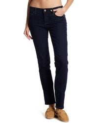 "Lands' End - Dark Denim Slim Trousers - 26-34"" Inseam - Lyst"