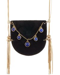House of Harlow 1960 - Ullie Fringe Velvet Pouch Pendant Necklace - Lyst