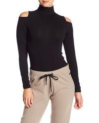Donna Karan - Mock Neck Cold-shoulder Bodysuit - Lyst