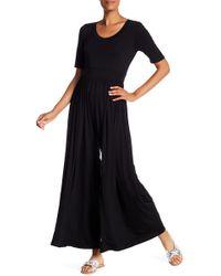 West Kei - Knit Wide Leg Jumpsuit - Lyst
