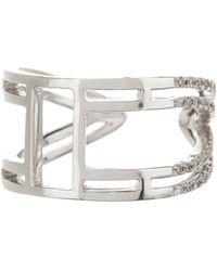 Meira T - 14k White Gold Diamond Pave Ring - Lyst