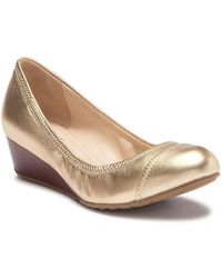 Cole Haan - Tali Leather Wedge Pump - Lyst