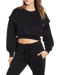 Ivy Park - (r) Armour Poppers Crop Sweatshirt - Lyst