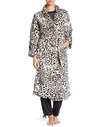 N Natori - Plush Animal Print Robe - Lyst